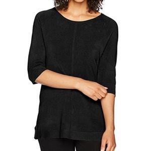 NEW Sag Harbor Black Elbow Sleeve Sweater